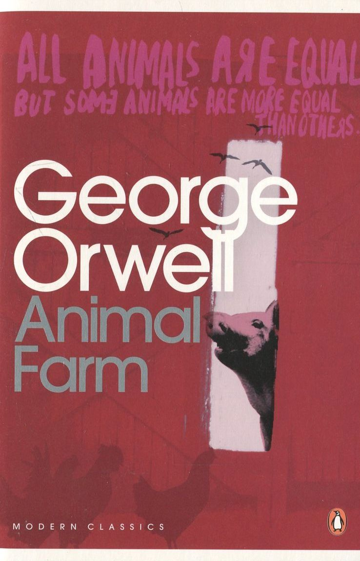 building a utopian society that changes to a dystopian society in animal farm a novel by george orwe