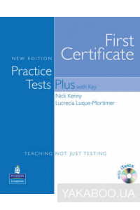 Фото - First Certificate Practice Tests Plus New Edition Students Book with Key