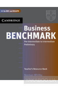 Фото - Business Benchmark Pre-Intermediate to Intermediate. Teacher's Resource Book