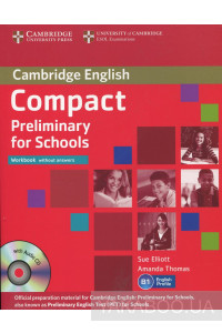 Фото - Compact Preliminary for Schools Workbook without answers (+ CD)