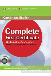 Фото - Complete First Certificate Workbook with Audio CD
