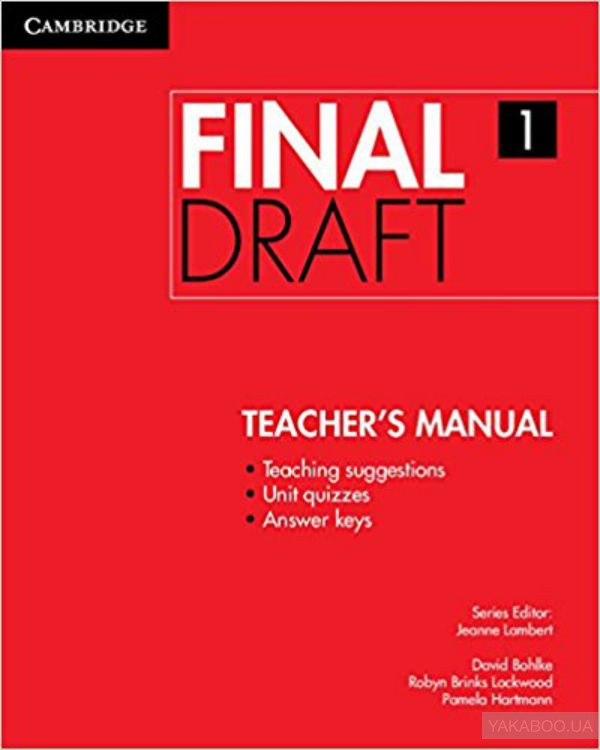Final Draft Level 1 Teacher&# 039;s Manual