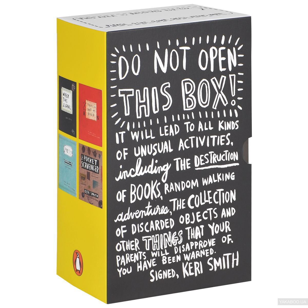 Do Not Open This Box! Wreck This Journal, This Is Not A Book, Mess, Pocket Scavenger (комплект из 4 книг)