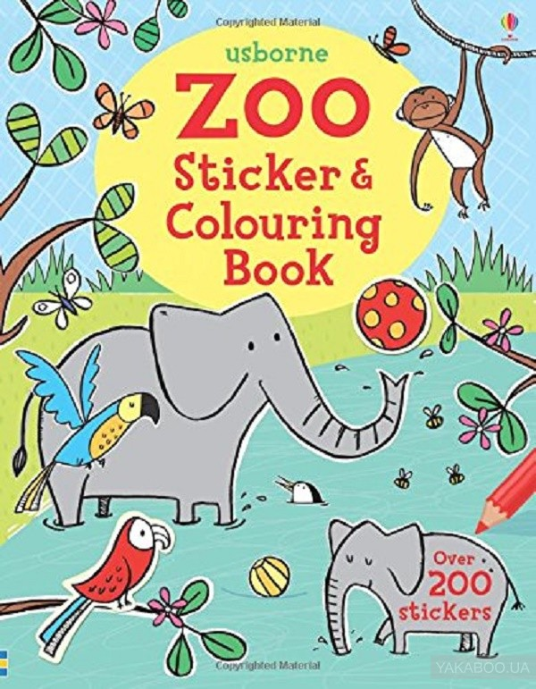 Zoo Sticker and Colouring Book фото
