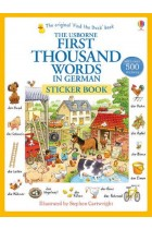 Купить - Книги - First 1000 Words in German. Sticker Book