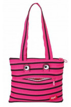 Купить - Все для школы - Сумка Zipit Monsters Tote/Beach Pink Begonia & Black Teeth (ZBZM-2)