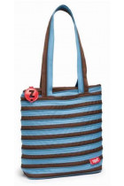 Купить - Все для школы - Сумка Zipit Premium Tote/Beach Ocean Blue & Soft Brown (ZBN-4)