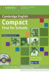 Фото - Compact First for Schools Workbook without answers (+ CD)
