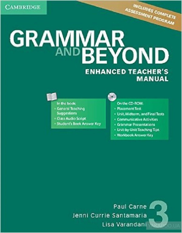 Grammar and beyond level 3 enhanced teachers manual with cd-rom