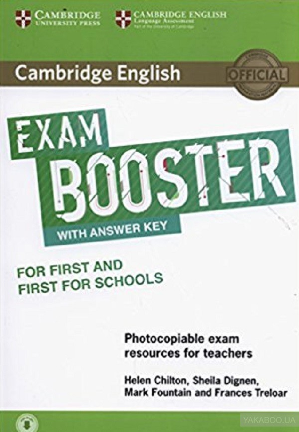 Cambridge english exam booster for first and first for schools with answer key with audio. photocopiable exam resources for teachers