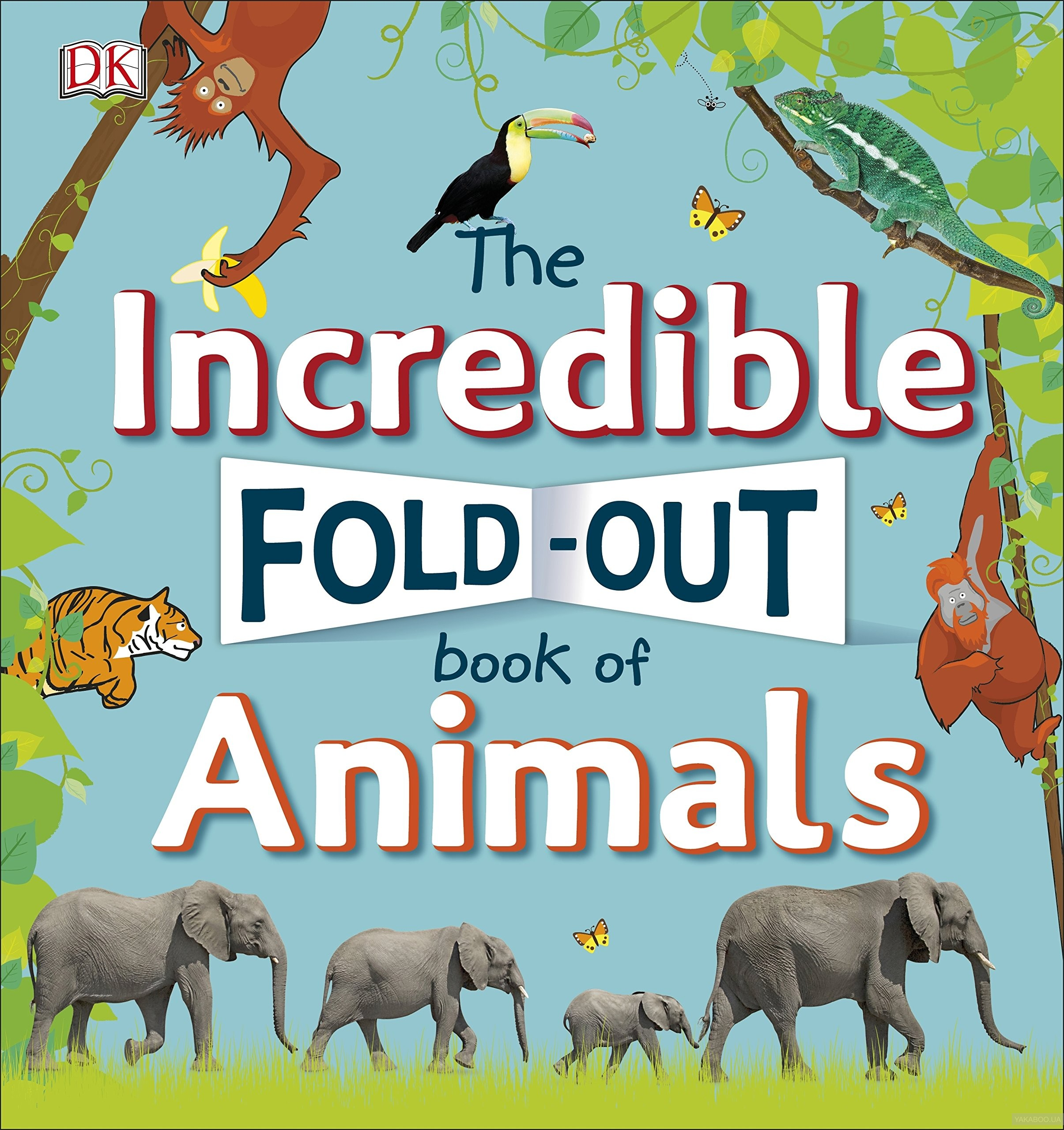 The Incredible Fold-Out Book of Animals, Дорлинг Киндерсли, 9780241276372  - купить