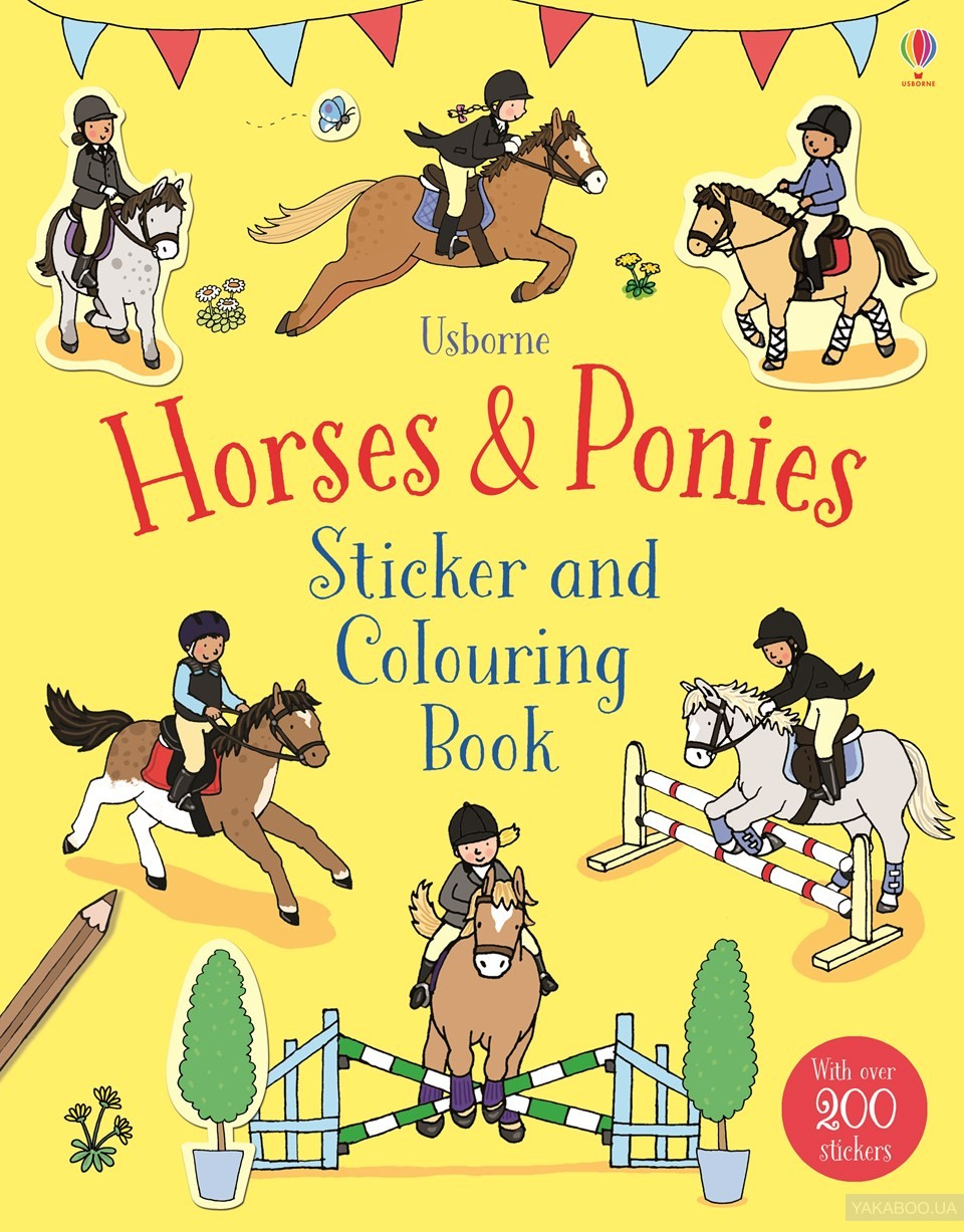 Sticker and colouring book. horses & ponies