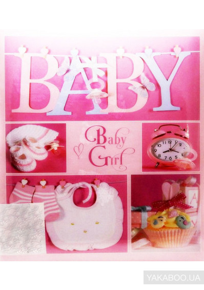 Фото - Фотоальбом EVG Baby Girl Collage розовый (20sheet Baby collage Pink w/box)