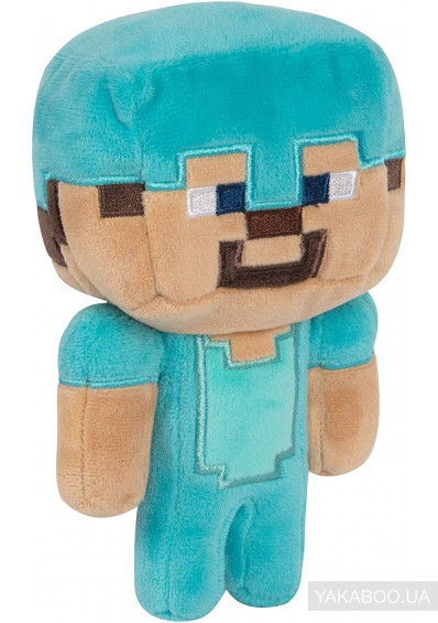 Фото - М'яка іграшка JINX Minecraft Happy Explorer Diamond Steve Plush (JINX-8731)