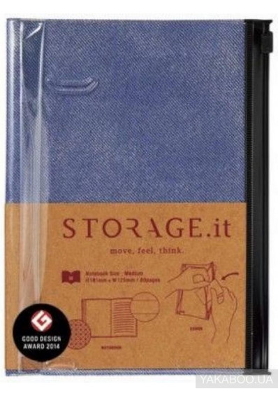 Фото - Блокнот Storage.it Denim M Синій (STI-NB51-A)
