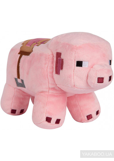 Фото - Мягкая игрушка JINX Minecraft Adventure Saddled Pig (JINX-8741)