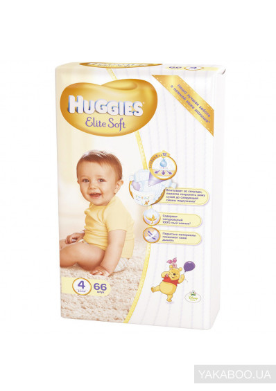Фото - Підгузки Huggies Elite Soft 4 Mega 66 шт. (5029053545301)