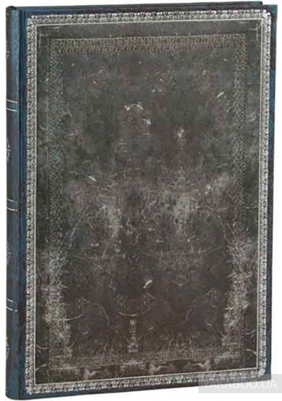 Фото - Нотатник Paperblanks Old Leather Midnight Steel сірий (PB3526-8)