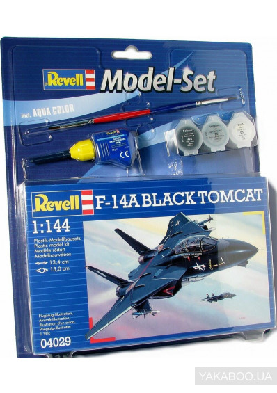 Фото - Модель Revell Самолет F-14A Tomcat Black Bunny 1:144 Model Set (64029)