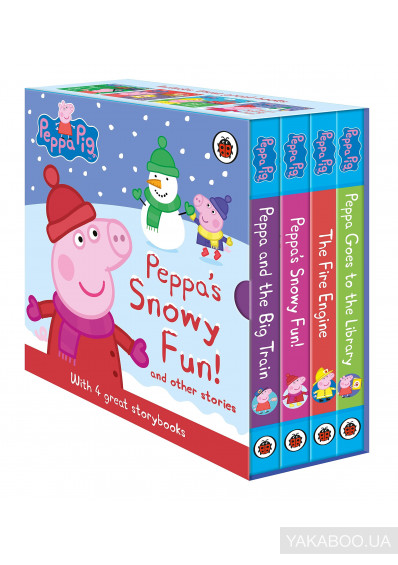 Фото - Peppa's Snowy Fun and other stories. Box Set (4-board book slipcase)