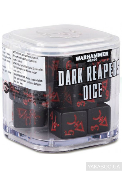 Фото - Набор кубиков Games Workshop Warhammer 40000: Dark Reapers Dice (99220104007)