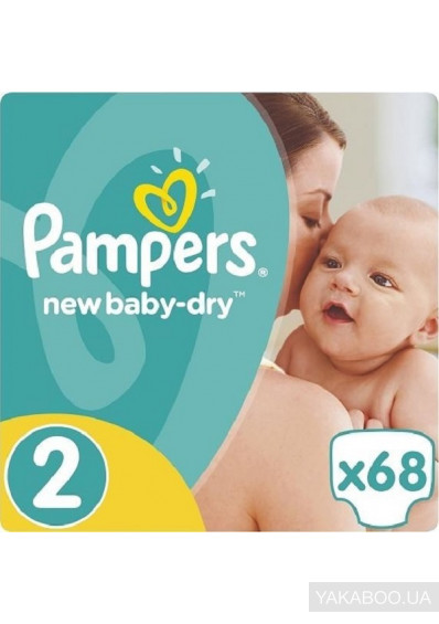 Фото - Підгузки Pampers New Baby-Dry Розмір 2 Mini 3-6 кг 68 шт (4015400735571)