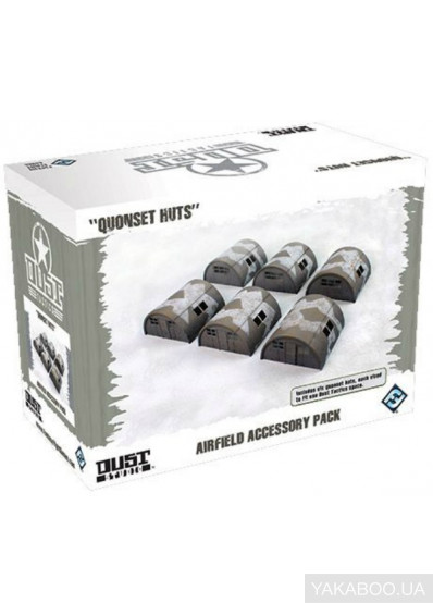 Фото - Набор Fantasy Flight Games Dust Tactics: Airfield Accessory Pack - Quonset Huts (DT061)