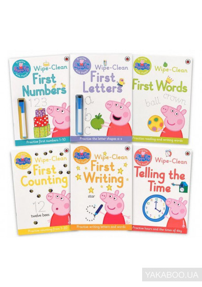 Фото - Peppa Pig. Wipe Clean Collection (6-book pack)