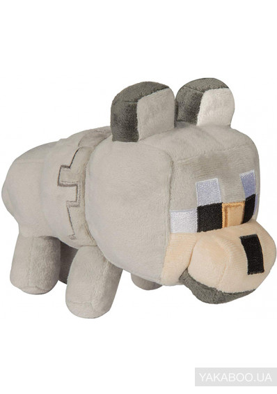 Фото - М'яка іграшка JINX Minecraft Happy Explorer Untamed Wolf Plush (JINX-8138)