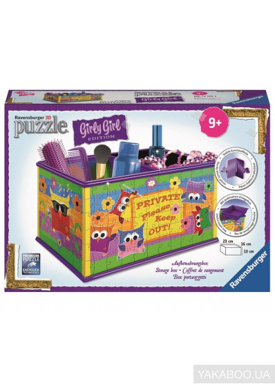 Фото - 3D Пазл Ravensburger Girly Girl Шкатулка Совы (RSV-121052)