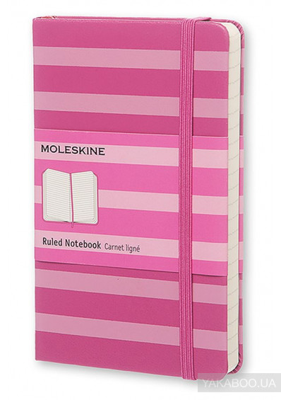 Фото - Кишеньковий нотатник Moleskine Stripes рожевий в лінію (SKTGMM710STRIPC)