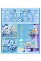 Купить - Блокноты - Фотоальбом EVG 10x15x56 Baby collage Blue (BKM4656 Baby collage Blue UA)
