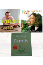 Купити - Книжки - River Cottage Year Collection Hugh Fearnley-Whittingstall 3 Books Bundles River Cottage Fruit Every Day!River Cottage Family Cookbook