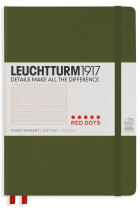 Купити - Блокноти - Блокнот Leuchtturm1917 Medium Red Dots Хакі (357697)