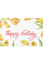 Купити - Подарунки - Листівка Mirabella Postcards Happy Birthday Yellow tulips (161258)
