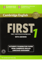 Купити - Книжки - Cambridge English First 1 for Revised Exam from 2015. Student's Book Pack