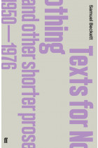 Купити - Книжки - Texts for Nothing and Other Shorter Prose. 1950-1976