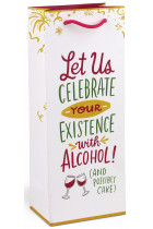 Купити - Подарунки - Celebrate With Alcohol Wine Bag