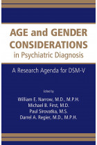 Купити - Книжки - Age and Gender Considerations in Psychiatric Diagnosis: A Research Agenda for DSM-V