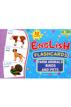 Купить - Книги - English flashcards. Farm animals, birds and pets