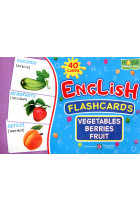 Купить - Книги - English flashcards. Vegetables, berrieds, fruit