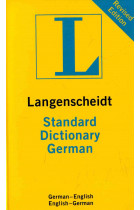 Купить - Книги - German Langenscheidt Standard Dictionary