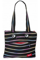 Купить - Все для школы - Сумка Zipit Monsters Tote/Beach Black & Rainbow Teeth (ZBZM-1)