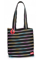 Купить - Все для школы - Сумка Zipit Premium Tote/Beach Black & Rainbow Teeth (ZBN-8)