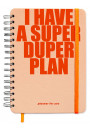 Купити - Планер Orner I have a SUPER DUPER plan Персиковий (orner-1150)