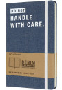 Купити - Блокнот Moleskine Denim Handle With Care (LCDNQP060D)