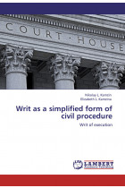 Купити - Електронні книжки - Writ as a simplified form of civil procedure. Writ of execution