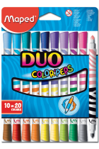Купити - Все для школи - Фломастери Maped Color Peps Duo 20 кольорів 10 шт (MP.847010)