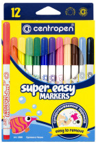 Купити - Все для школи - Фломастери Centropen Super Easy 12 шт (2580)