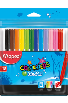 Купити - Все для школи - Фломастери Maped Color Peps Ocean 12 кольорів (MP.845720)